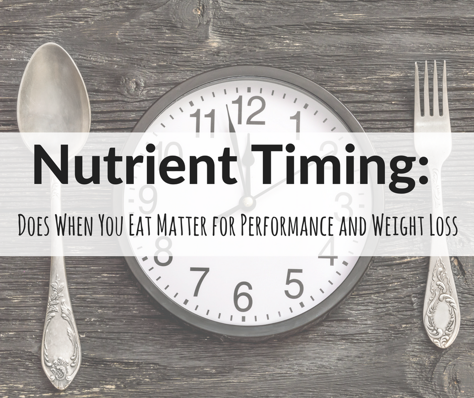 nutrition timing for fat loss